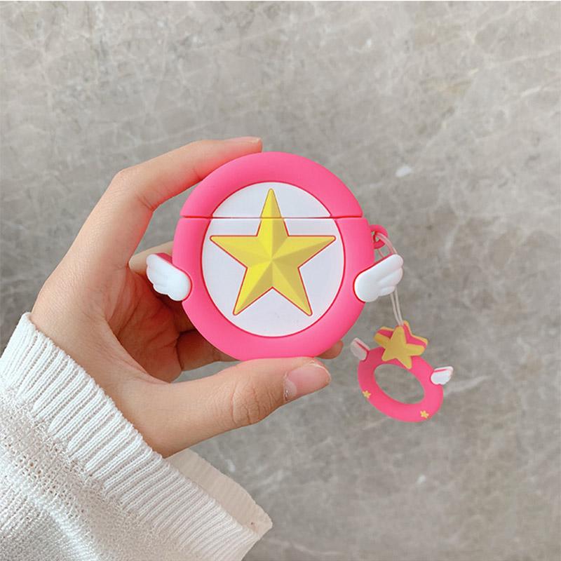 Image 2 - Sailor Moon Transformer For Airpods Case Cute Silicone Bluetooth Earphone Protective Cover Capa Cartoon for Air pods Key Strap-in Earphone Accessories from Consumer Electronics