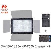 Falcon Eyes DV 160V CRI95+ 160 LED Video Lamp Camera Light Bulb Photo Lighting 5500K +2300mAh NP F550 Battery +Charger Set