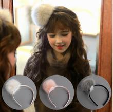 Lovely Pom Pom Ball Hairbands Girl Hair Bands Handmade hair accessories Kids plush hair band hair accessories for girls K3
