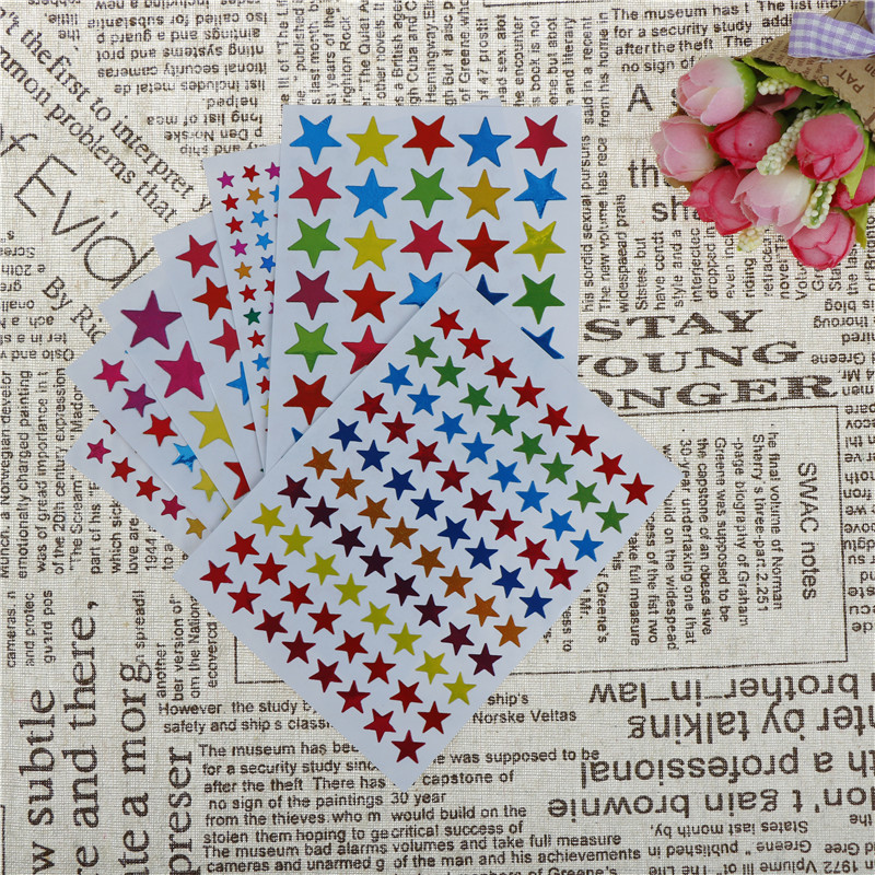 10 Sheets Colorful DIY Photo Album Sticker Star Stickers Kids Stationery Diary Scrapbook Stickers Phone Sticker10 Sheets Colorful DIY Photo Album Sticker Star Stickers Kids Stationery Diary Scrapbook Stickers Phone Sticker