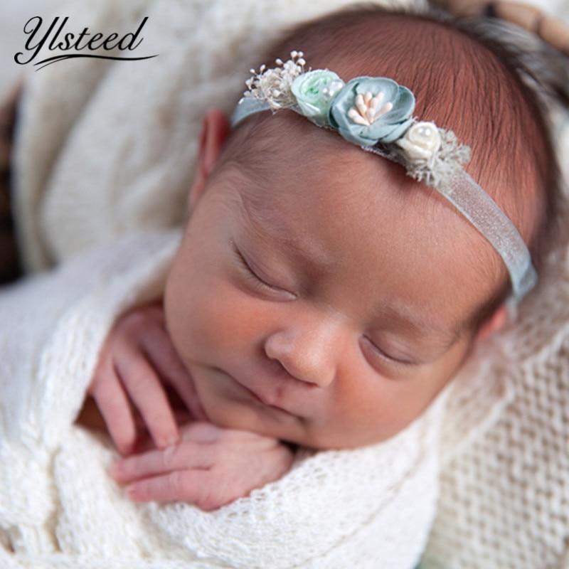 Newborn Hair Accessories Photo Props Baby Girl Flowers Headband Newborn Photography Accessories Infant Shooting Hairband