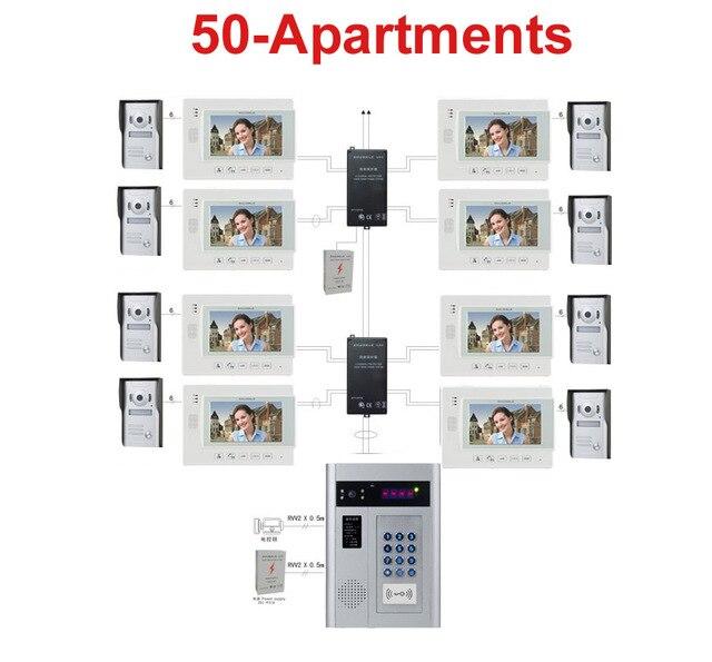 zhudele multi maison vid o porte t l phone syst me d 39 interphone sonnette 7 tft moniteur soutien. Black Bedroom Furniture Sets. Home Design Ideas