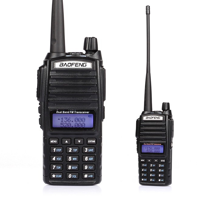 Talkie-walkie 5 w BaoFeng UV 82 Radio bidirectionnelle, double bande VHF/UHF 136-174/400-520 MHz radio 2 voies + double écouteur PTT