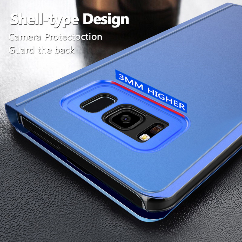 Image 4 - Mirror Case For Samsung Galaxy S10 S8 S9 Plus S7 Edge A6 A8 J4 J6 Plus A7 J8 2018 M10 M20 A10 A20 A30 A40 A50 A60 A70 A80 Case-in Wallet Cases from Cellphones & Telecommunications