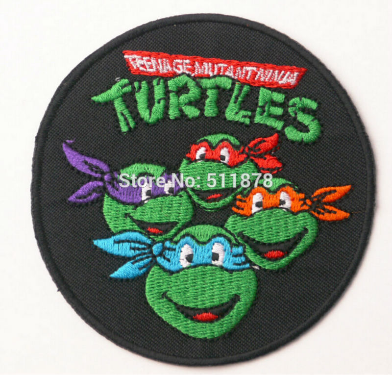 TEENAGE MUTANT NINJA HERO TURTLE  EMBROIDERED APPLIQUÉ PATCH SEW OR IRON ON