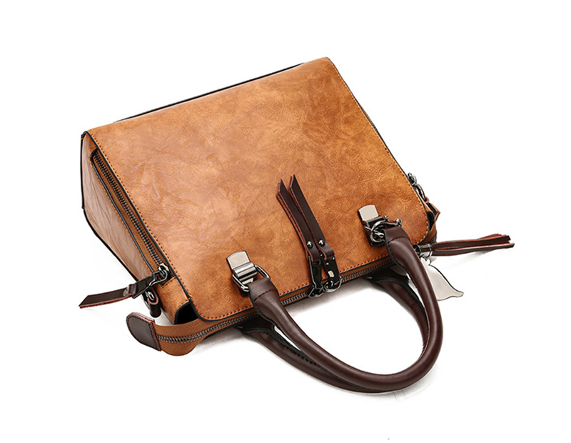 pure leather bag side view