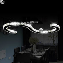 Restaurant lights led crystal chandelier modern minimalist living room lamp bedroom lamp and Upscale atmosphere lamp(China)