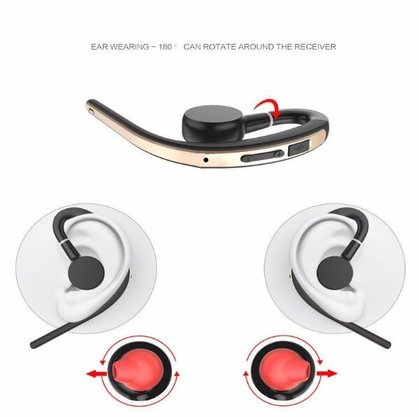 NAIKU Wireless Handsfree Business Bluetooth Headphone With Mic Voice Control  Bluetooth Headset For Drive Noise Cancelling