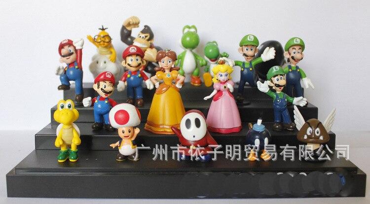 Super Mario Bros 18 pcs/set 3.5-5.5 CM PVC Action figures Toys Nintendo super mario Luigi Koopa