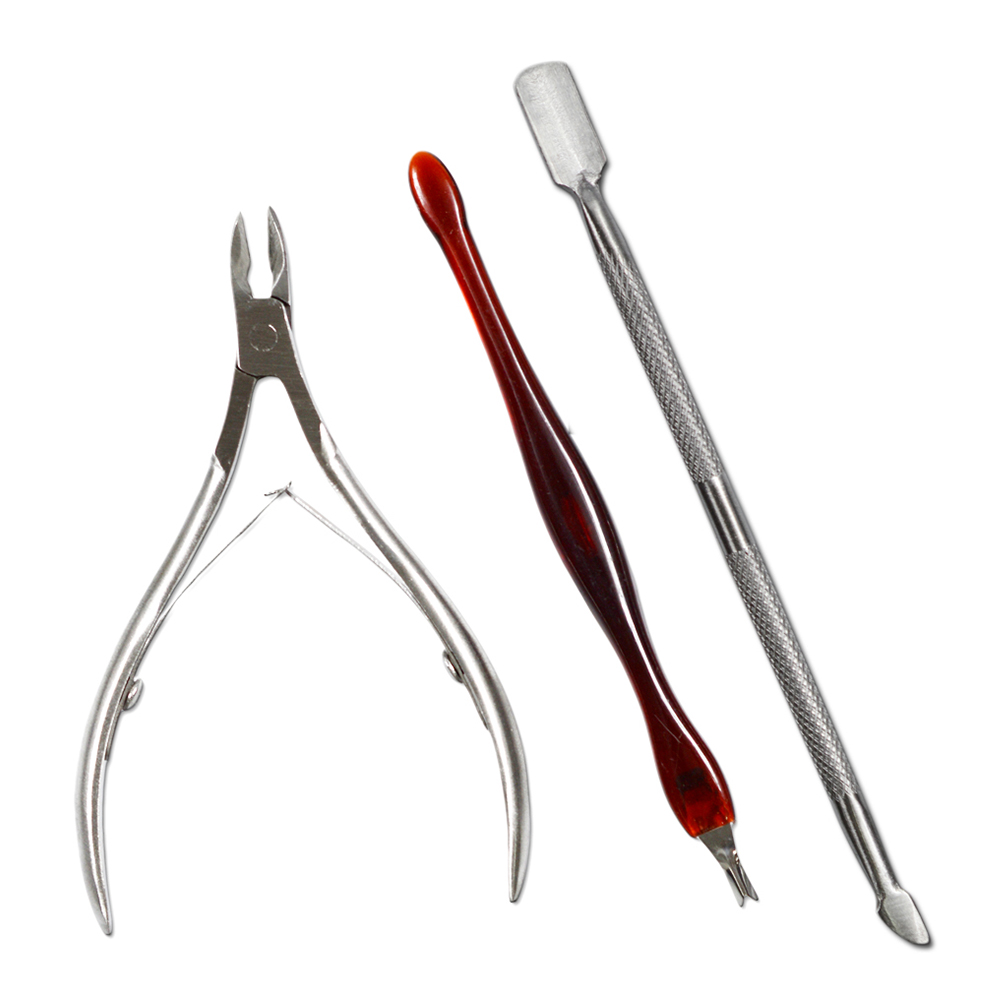 3 Pcs Cuticle Nail Clipper+Cuticle nipper Set Nail Art Tool Dead Skin Fork Trimmer Peeling Knife Cuticle Remover SANC385 stainless steel nail clipper set nail art manicure tool peeling knife dead skin