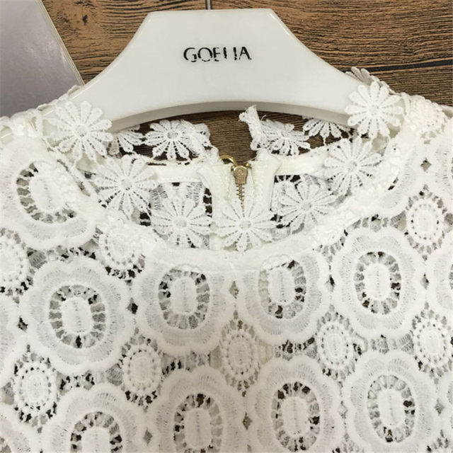 Online Shop Self Portrait Luxury Runway Lace Tops Flower Crochet