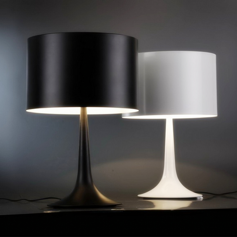 Up Down Side Lighting Big Gentleman Table Lamp 610mm*390mm 5w Black/White  Modern Lampshade Living Room Bedroom Decor Desk Lamp In Desk Lamps From  Lights ...