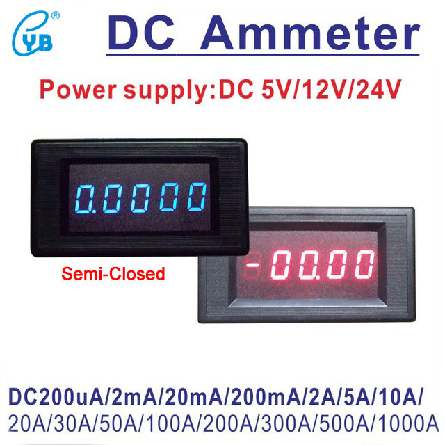 Current Meters Yb5145a Dc Current Meter Amp Ampere 4 1/2 5 Digit Bit Led Digital Ammeter 200ua/2ma/20ma/200ma/2a 5a 10a 30a 50a 100a 300a 500a In Short Supply