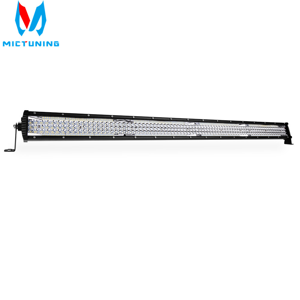 MICTUNING 42 LED Light Bar Super Bright Combo Five Row Off Road SUV ATV Trailer Truck Spot Flood Straight Led Work Lamp 33000LM image