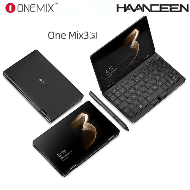 One Netbook One Mix 3S Notebook Yoga Pocket Laptop M3-8100Y 16GB 512GB Win 10 Mini Laptop With Original Stylus Pen Notebook