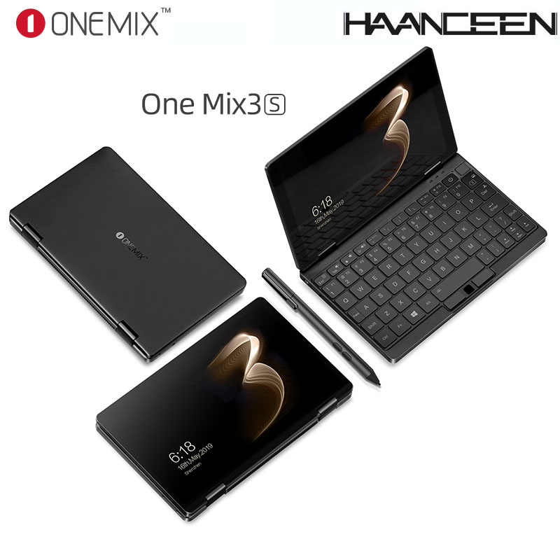 HOT!!One Netbook One Mix 3S Notebook Yoga Pocket Laptop M3-8100Y 16GB 512GB Win 10 Mini Laptop With Original Stylus Pen Notebook