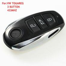 for VW Touareg 3 button Semi-Smart remote key control 433mhz