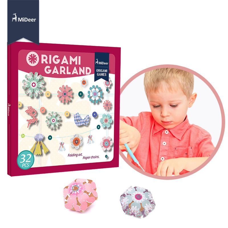 Mideer Origami Garland Flower Educational Toys For Children Kids