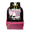 NEW 2017 Designer 16 inch Children Animal Printing Backpacks Vintage Canvas Kid's School Bag for Girls Women Backbag