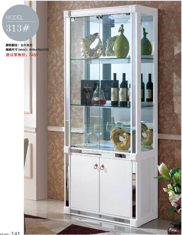 313 living room furniture display showcase wine cabinet - Corner tables for living room online india ...