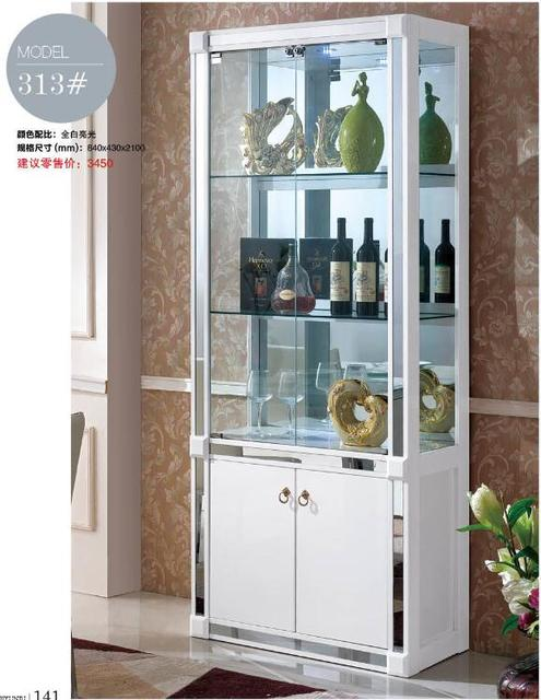 313# Living room furniture display showcase wine cabinet living room ...