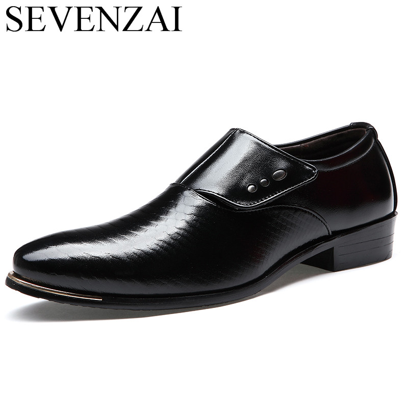 Mens Spring Autumn Shoes Luxury Brand Snake Skin Fashion Flats Patent Leather Formal Male Footwear Dress Oxford Shoes For Men Attractive And Durable Shoes Formal Shoes