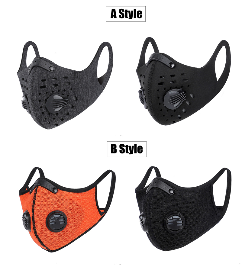 BestBuySale Face Mask USA Sports/Cycling Face Mask with Activated Carbon Filter and Exhalation Valves