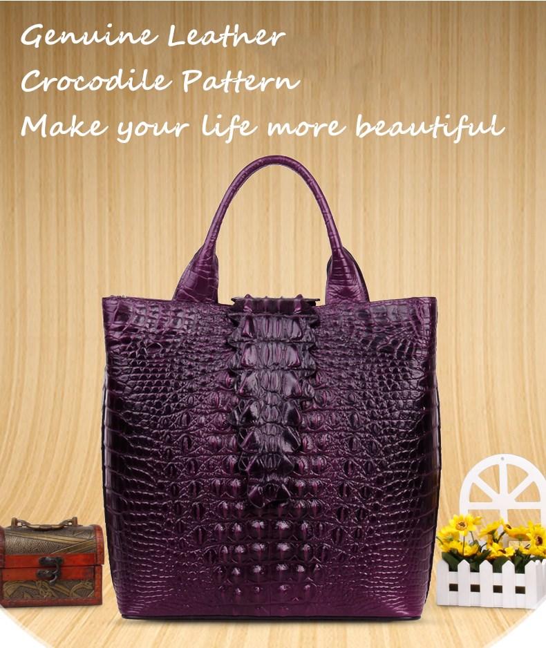 new arrival genuine leather crocodile pattern vintage women handbags bfdadi 2018 new arrival hat genuine