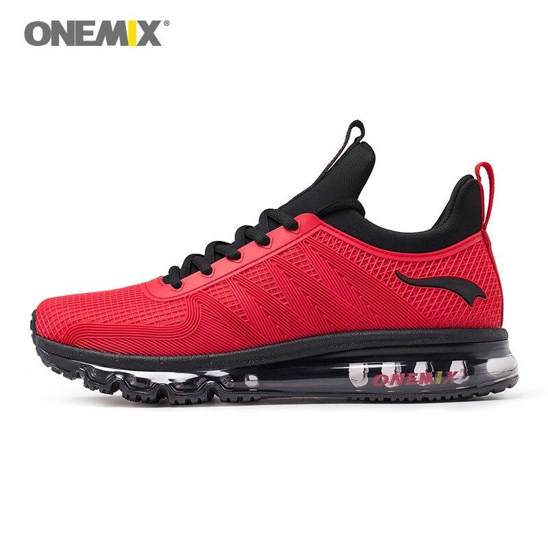 New onemix women sport sneakers outdoor men running shoes classical black athletic shoes damping zapatos de hombres