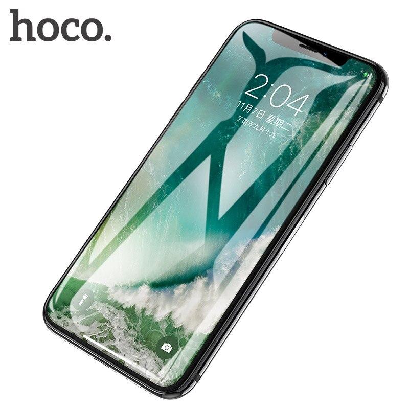 HOCO pour iPhone X XS 3D Plein Verre Trempé Film Écran Protecteur Housse De Protection Écran Tactile Protection pour iPhone XS max XR