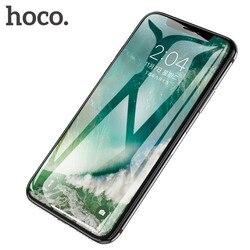 Hoco para o iphone x xs 3d cheio de vidro temperado filme protetor de tela capa protetora proteção da tela de toque para o iphone xs max xr
