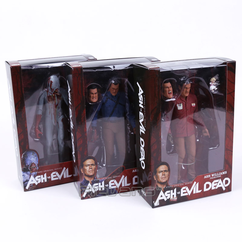 NECA The Evil Dead Ash Vs Evil Dead Ash Williams Eligos PVC Action Figure Collectible Model Toy 3pcs/set 18cm neca marvel legends venom pvc action figure collectible model toy 7 18cm kt3137