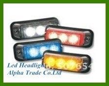 ФОТО High quality DC12V,3W car Led Grill lightheads,emergency lights,strobe warning lights,waterproof