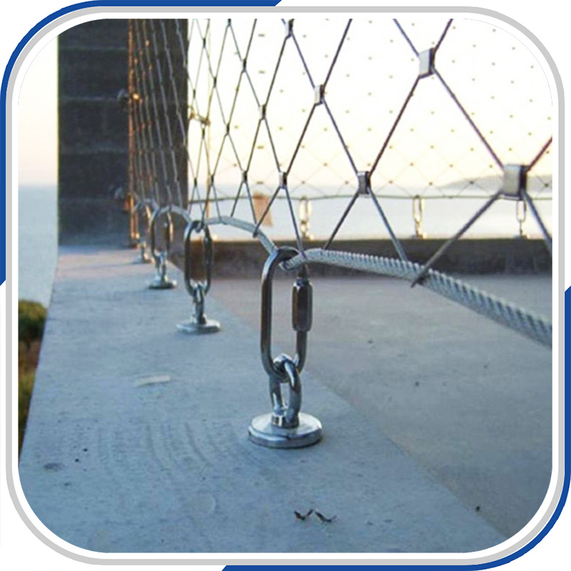 High tensile architectural protective stainless steel wire rope mesh ...