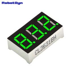 5 шт. = 3-значный 7-сегментный светодиодный Дисплей трубки, десятичная система точки, зеленые, объем. Размер 22x14 мм, 0,36 дюйма