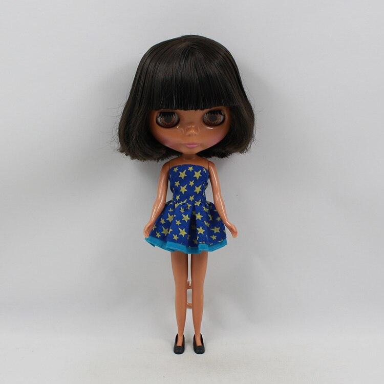 Nue bjd poupée b femme mode courte frange cheveux noirs bébé gros yeux poupée noire modifiée bricolage 11.5 mode poupées pour filles
