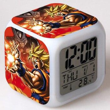 S h figuarts Гоку Аниме фигурки Dragon Ball Z будильник светодио дный красочные вспышки Light Touch Dragon Ball Супер Figuras игрушки для детей