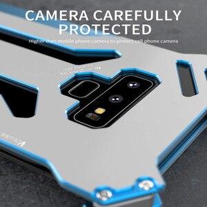 Image 5 - R just funda protectora de Metal para Samsung Galaxy Note 8, S7, Edge, S8 Plus, a prueba de golpes, a prueba de polvo, para Galaxy Note 9