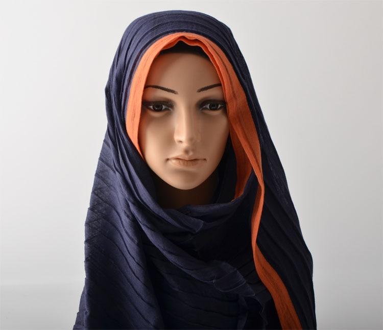 2d30a7ff341c Foulards femmes haute couture 2016, coton écharpe, hijab Plaine, Ondulation  motif, hijab Musulman, châles et foulards, silencieux, châles wraps
