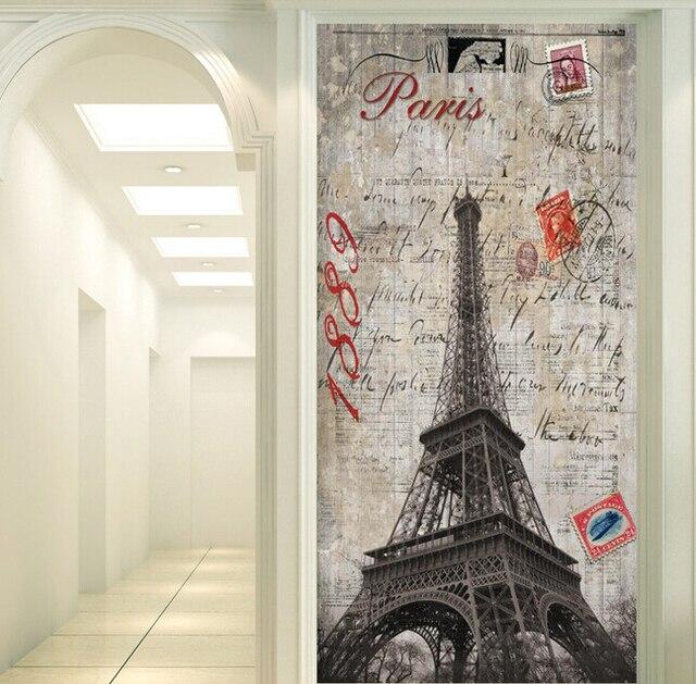 Wonderful Custom 3D Wallpaper, European Style Nostalgic France Paris Tower For The  Living Room Bedroom TV