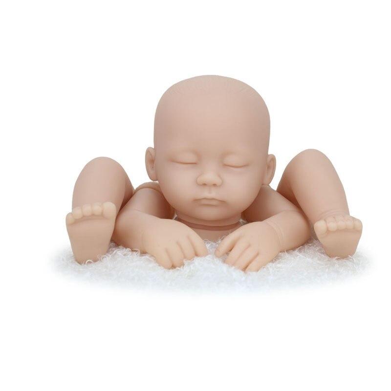 Kaydora DIY 16 inch Blank Vinyl Silicone Reborn Doll Kits Doll Accessories Realistic Sleepy Dolls Vinyl Kits lol reborn bebe kit