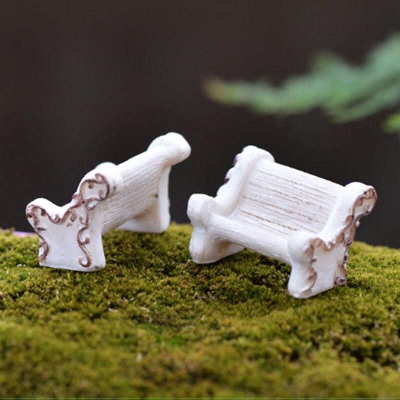 2 Pcs Mini Decoration De Jardin Chaises Fee Jardin Miniatures