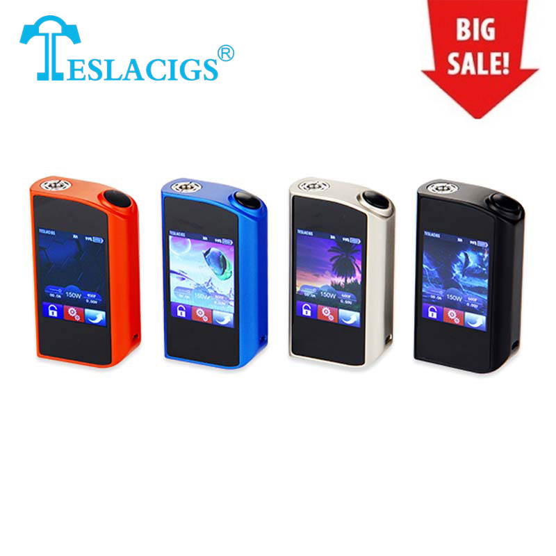 Clearance Original Tesla Touch TC Mod Software Upgradable Support Ti/Ni200/SS/TCR/VW Modes Electronic Cig Mod Touch Screen Mod