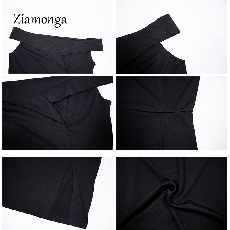 HTB1 SLQXtZLL1JjSZFPq6xAoFXac - Ziamonga Women Autumn Dress Winter Black Red Off Shoulder Backless Tunic Party Dress Sexy Robe Femme Bodycon Bandage Dress