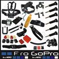 Accesorios gopro hero 5 casco set arnés de pecho cinturón head mount correa go pro hero 3 4 hero4 sj4000 xiaomi yi negro edición