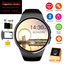 цена на New 2019 KW18 Bluetooth smart watch full screen Support SIM TF Card Smartwatch Phone Heart Rate for apple gear s2 huawei xiaomi