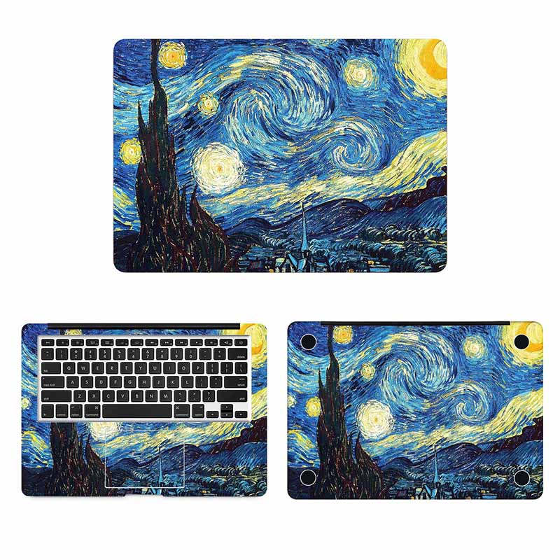Van Gogh Oil Painting Laptop Skin Sticker for Macbook Decal Pro Air Retina 11 <font><b>12</b></font> <font><b>13</b></font> 15 inch HP Mac Book Full Cover Notebook Skin image
