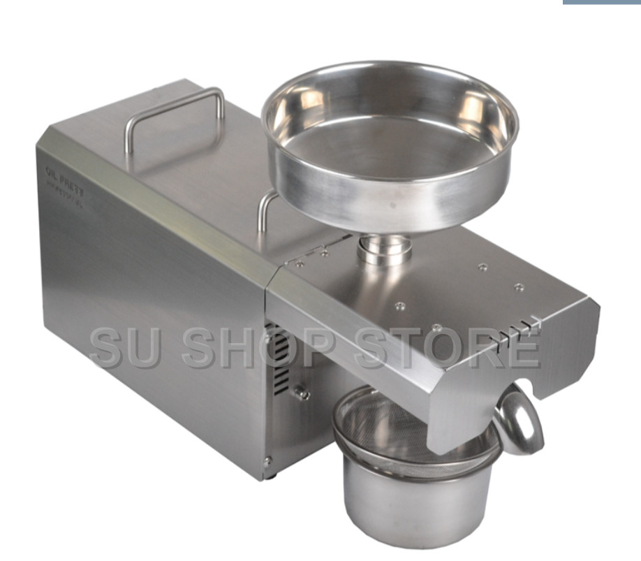 Free ship Stainless Steel Mini Oil Press Machine For Seed, Nut Peanut,Coconut Commercial Grade Oil Extraction Expeller Presse 110v 220v commercial oil press machine for sale mini oil expeller seed oil extraction machine coconut almond sesame