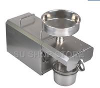 Free ship Stainless Steel Mini Oil Press Machine For Seed, Nut Peanut, Commercial Grade Oil Extraction Expeller Presse