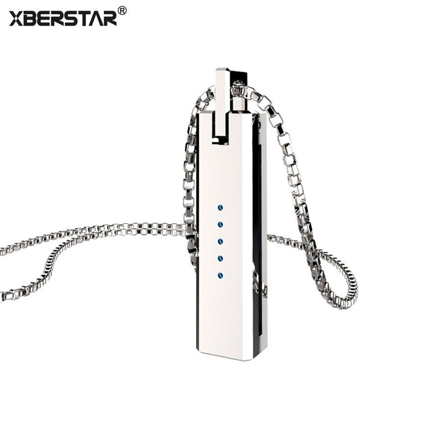 XBERSTAR Holder for Fitbit Flex 2 Replacement Accessory Strap New Metal Necklace Pendant Magnetic Holder